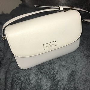 Kate Spade White and Grey Purse